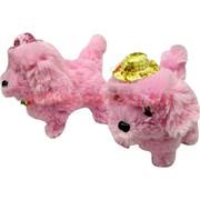 Собачка гавкающая розовая со шляпкой двух цветов