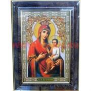 """Картина из янтаря """"Икона"""" в багетной раме 19х31"""