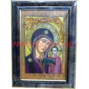 """Картина из янтаря """"Икона"""" в багетной раме 47х69"""