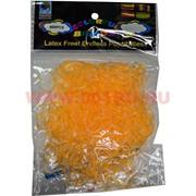 """Резинки Loom Bands """"гель тонкие желтые"""" 600 шт, цена за 12 уп"""