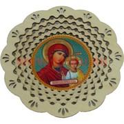 """Тарелка с иконкой """"Казанская Икона Божьей Матери"""""""