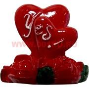 """Магнит """"2 сердечка, розы и Yes"""""""