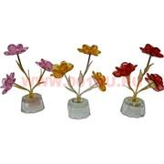 "Кристалл ""Цветок"" 12 см, 4 цвета, цена за шт"