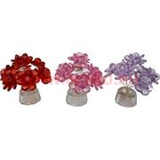 "Кристалл ""Цветок"" 10 см, 4 цвета, цена за шт"