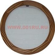 Фоторамка деревянная круглая D-18