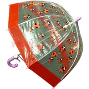 Зонт детский прозрачный трость 4 цвета (DW-0425) цена за 12 шт