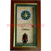 Ключница морская с часами, узлом, фонарем