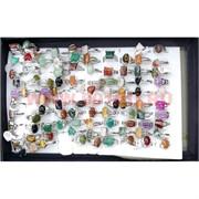 Кольца малые в ассортименте из натуральных камней (16-20 размер)