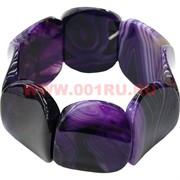 Браслет из агата с изогнутыми камнями, фиолетовый (3,2 см ширина)