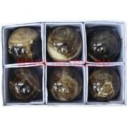 Шарик из черного оникса (4,5-5см), цена за 6 штук
