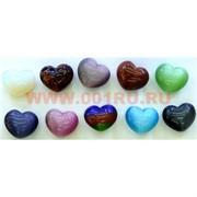 Сердца из натуральных камней в ассортименте