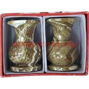 "Подсвечник из медового оникса (2х3) ""ваза"" 7,5 см"
