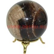 Шарик из медового оникса 7 см (без подставки)