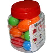 Жвачка для рук цветная, цена за банку (16 шт)