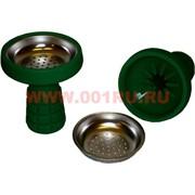 Чашка силиконовая зеленая с металлической сеточкой