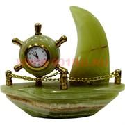 Часы «Парусник» малые (5 дюймов) из оникса
