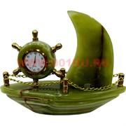 Часы «Парусник» средние (7 дюймов) из оникса