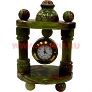 Часы из оникса «Беседка» 12 см