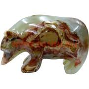 Медведь из оникса 10 см (4 дюйма)