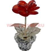 """Цветок """"Роза"""" 7,5 см из стекла, металла, пластмассы"""