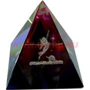 """Кристалл """"Пирамида"""" перламутровая 4см"""