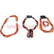 Бусы и браслет из бисера (трансформер) чёрный, красный, золотистый