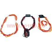 Бусы и браслет из бисера (трансформер) чёрный, красный, серебристый
