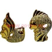 2 золотые рыбки из фарфора (760A) высота 17 см, цена за пару
