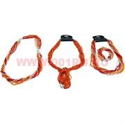 Бусы и браслет из бисера (трансформер) оранжевый