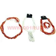Бусы и браслет из бисера (трансформер) белый