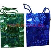 Пакет подарочный голографический 30х40 см 20 шт\уп купить оптом в Москве упаковку, пакеты, бумагу для подарков