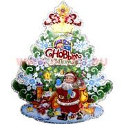 Украшение настенное (R-009) Дед Мороз С Новым Годом 800 шт/кор