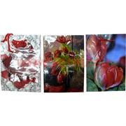 Пакет подарочный бумажный цветочный 14х20 см, 20 шт\уп