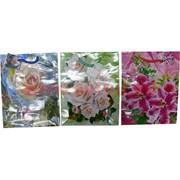 Пакет подарочный бумажный цветочный 18х23 см, 20 шт\уп