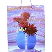 Пакет подарочный бумажный цветочный 20х25 см 20 шт\уп