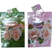 Пакет подарочный бумажный цветочный 20х30 см, 20 шт\уп