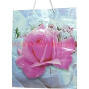 Пакет подарочный бумажный цветочный 26х32 см, 20 шт\уп