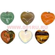 Подвеска «сердца» из натуральных камней малый размер