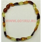 Браслет из янтаря 3 цвета 20 см (4-5 гр)
