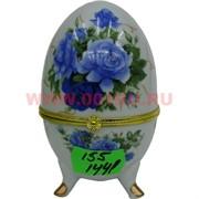 Яйцо шкатулка пасхальное 9,5 см белая, цена за 144 штуки (рисунки в ассортименте)