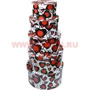 Коробки подарочные 5в1 с сердечками, цена за 5 шт