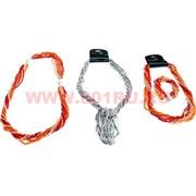 Бусы и браслет из бисера (трансформер) серебристый