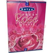 Благовония Satya Fresh Rose (Свежая Роза) 12уп х 20 гр, цена за 12 уп