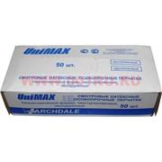 Латексные смотровые особопрочные перчатки UniMax L 50 шт (неопудренные, текстурированные, неанатомической формы)