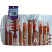Набор стилиста 12 предметов цвет коричневый, цена за упаковку 12 шт