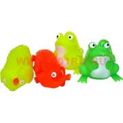 Игрушка резиновая 24 шт светящаяся 2 вида (лягушка и слоник), цена за 24 шт