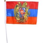 Флаг Армении с гербом 16х24 см, 12 шт/бл (2400 шт/кор)