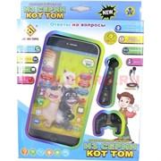 """Интерактивный телефон """"из серии кот Том"""" с наушниками, 96 шт/кор"""