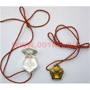 Подвеска буддийская на шею «серебро и золото»