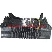 Гребень для волос цвет черный, цена за упаковку 12 шт